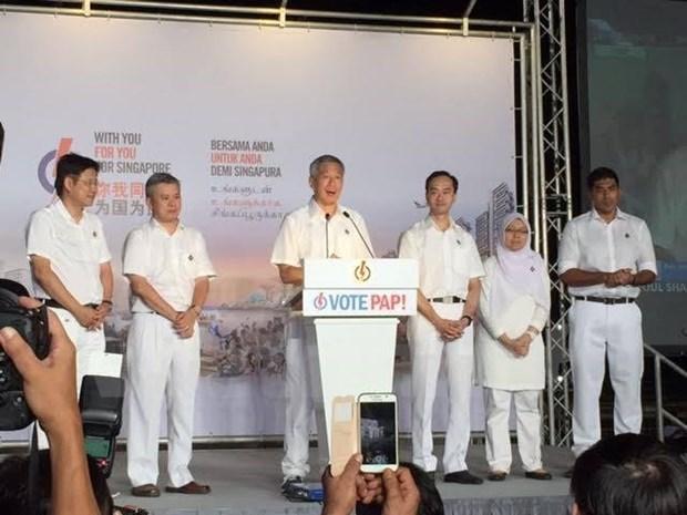 Le Vietnam felicite Singapour pour le succes des legislatives hinh anh 1
