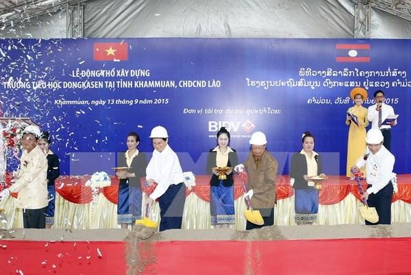 Mise en chantier d'une ecole au Laos financee par le Vietnam hinh anh 1