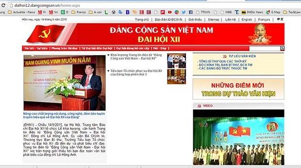 Inauguration du site web sur le XIIe Congres du PCV hinh anh 2