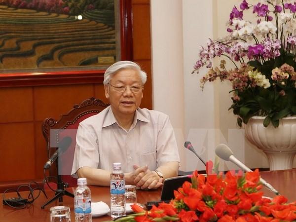 Le Secretaire general du PCV Nguyen Phu Trong part pour le Japon hinh anh 1