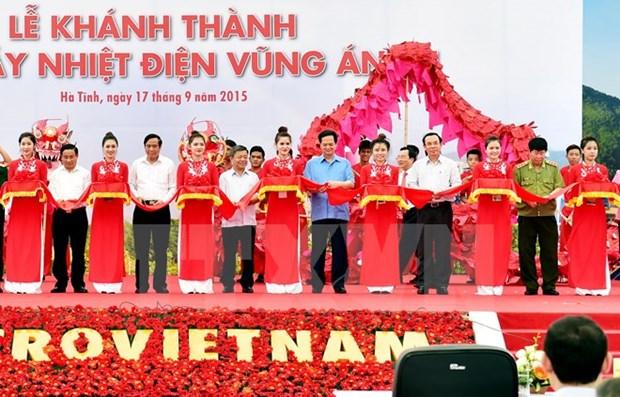 Nguyen Tan Dung a la ceremonie d'inauguration de la centrale thermoelectrique de Vung Ang 1 hinh anh 1