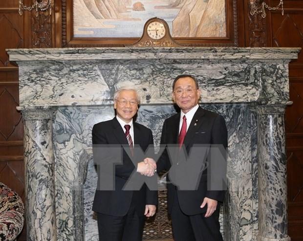 Activites du leader du Parti communiste du Vietnam au Japon hinh anh 1