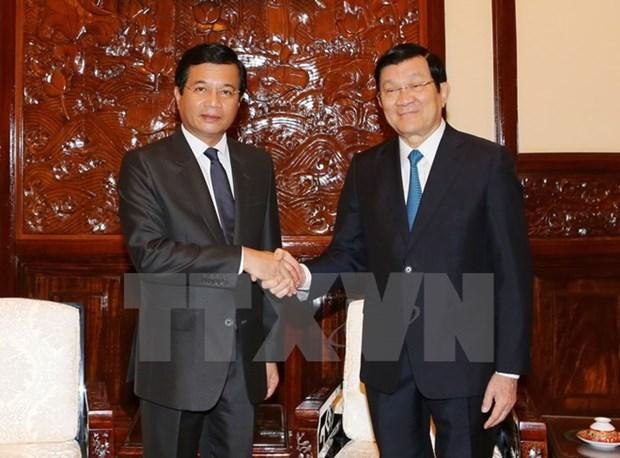 Le president Truong Tan Sang recoit l'ambassadeur du Laos hinh anh 1
