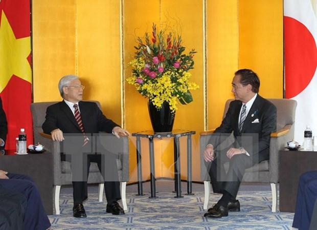Le leader du PCV visite la Prefecture japonaise de Kanagawa hinh anh 1