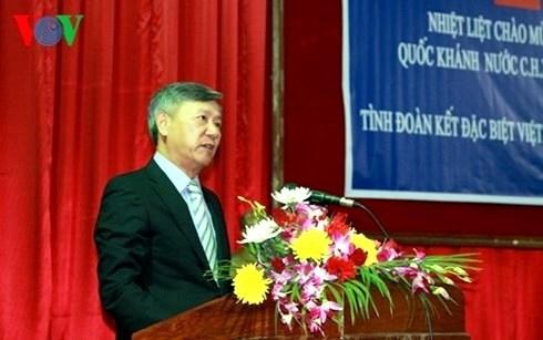Rencontre entre l'ambassadeur vietnamien et des etudiants laotiens hinh anh 1