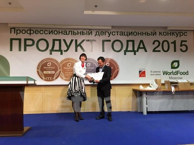 TH True Milk obtient 3 prix d'or au Salon international de l'alimentation de Moscou hinh anh 1