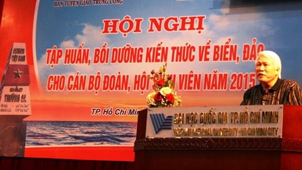 Ameliorer les connaissances sur la mer et les iles des responsables de la jeunesse hinh anh 1