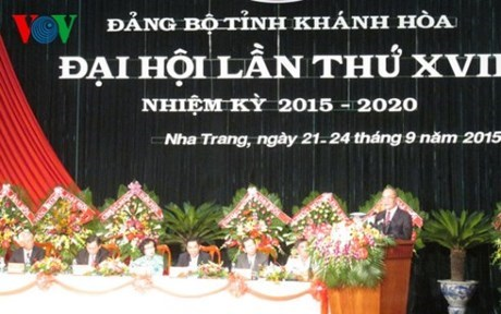 Le 17e Congres de l'organisation du PCV pour la province de Khanh Hoa hinh anh 1