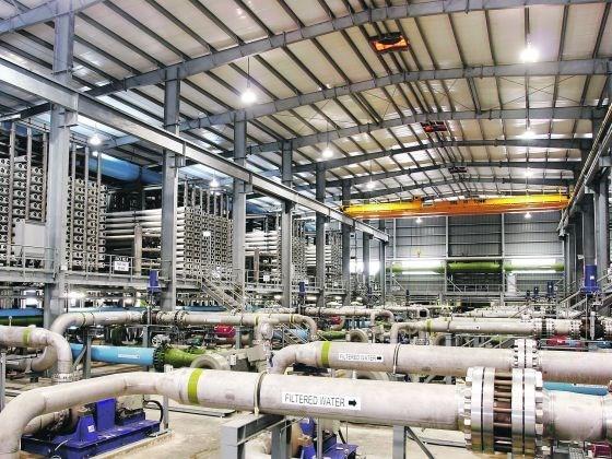 Singapour construit une nouvelle usine de dessalement d'eau de mer hinh anh 1