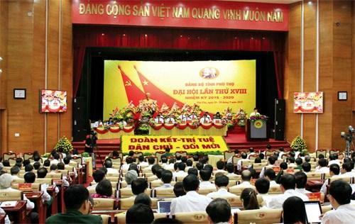 Ouverture du XVIIIe congres de l'organisation du PCV de Phu Tho hinh anh 1