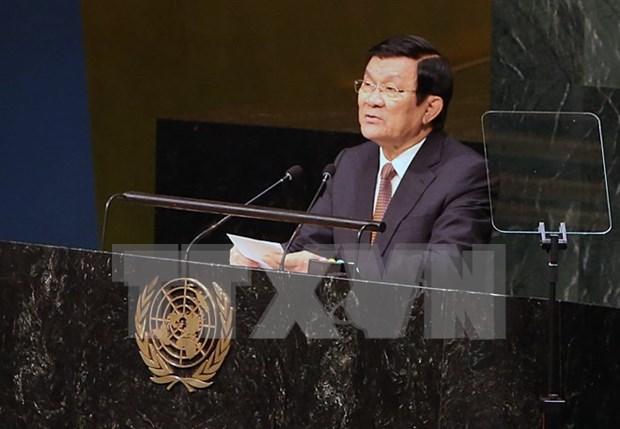 Le president Truong Tan Sang au Sommet de l'ONU sur le maintien de la paix hinh anh 1