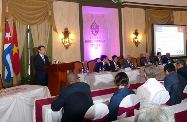 Le president Truong Tan Sang termine sa visite officielle a Cuba hinh anh 1