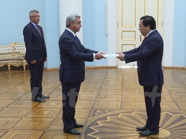 Le president armenien accorde de l'importance a la cooperation avec le Vietnam hinh anh 1