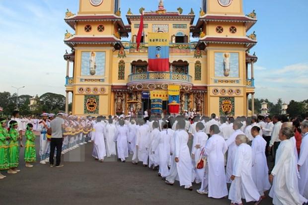 Les caodaistes celebrent le 90e anniversaire de leur secte hinh anh 1