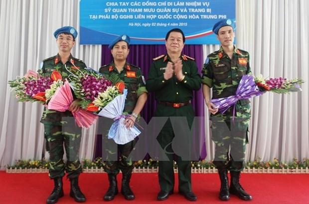 Le Vietnam actif dans les missions de maitien de la paix de l'ONU hinh anh 1