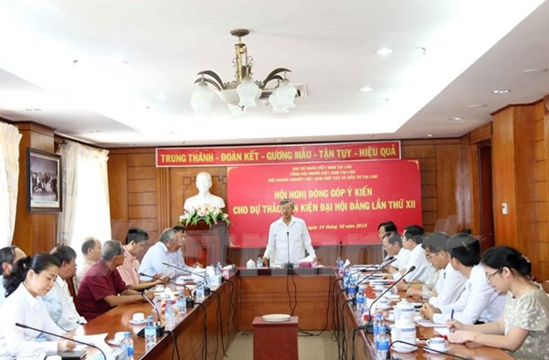 Collecte d'avis sur les documents du 12e Congres national du Parti au Laos hinh anh 1