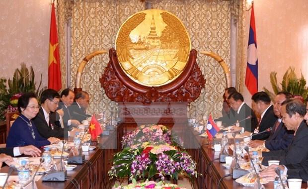 La vice-presidente Nguyen Thi Doan en visite au Laos hinh anh 1