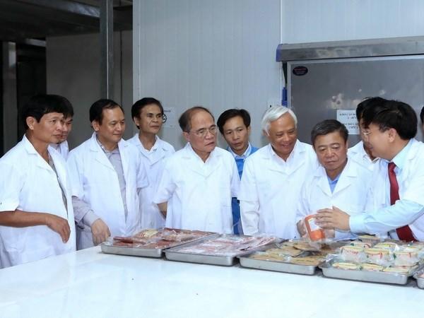 Le president de l'Assemblee nationale en visite de travail a Ha Tinh hinh anh 1
