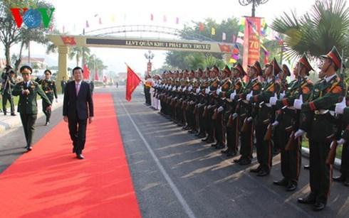 70eme journee traditionnelle des forces armees des 1ere et 5eme zones militaires hinh anh 1