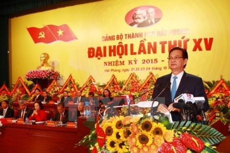 Ouverture du Congres de l'organisation du PCV pour Hai Phong hinh anh 1