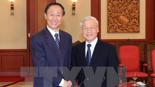 Le chef du PCV affirme le partenariat de cooperation strategique integrale Vietnam-Chine hinh anh 1
