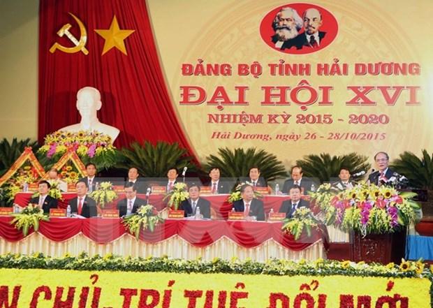 Le 16e Congres de l'organisation du PCV pour Hai Duong hinh anh 1