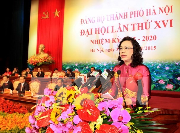 Cloture du 16e Congres de l'organisation du Parti de Hanoi hinh anh 1