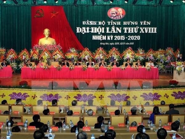 Cloture du Congres de l'organisation du PCV pour Hung Yen hinh anh 1