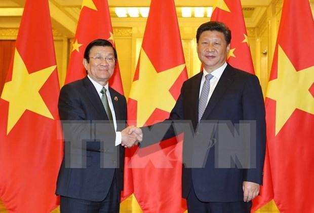 Les relations Vietnam-Chine ont tendance a se developper activement hinh anh 1