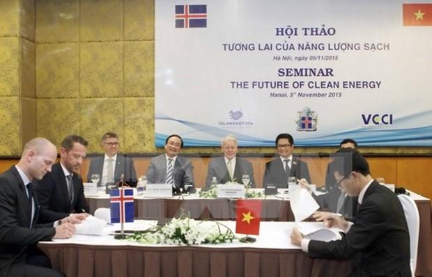 Vietnam et Islande cooperent dans le developpement des energies propres hinh anh 1