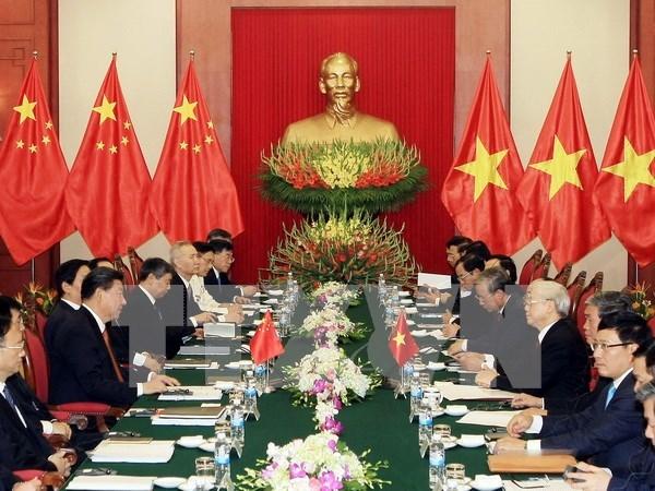 Entretien entre Nguyen Phu Trong et Xi Jinping hinh anh 1