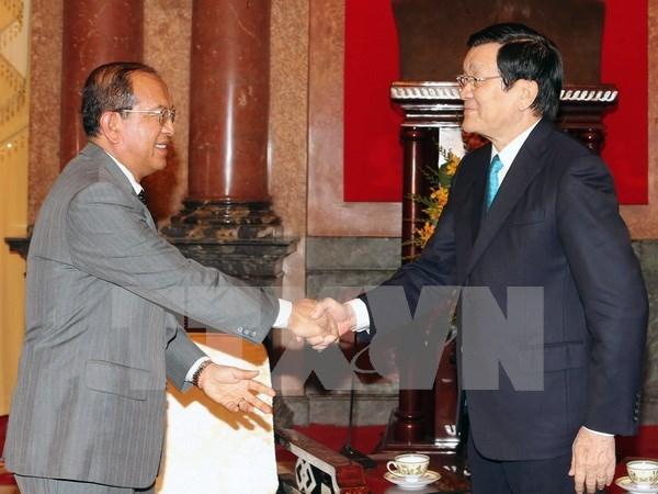 Le president Truong Tan Sang recoit le ministre laotien de la Justice hinh anh 1