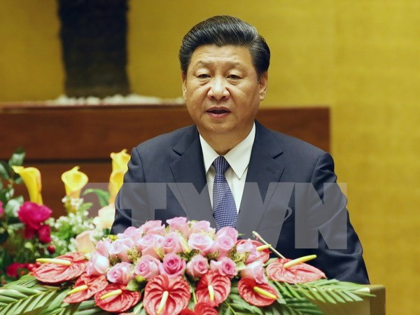 Le dirigeant chinois Xi Jinping s'exprime ​devant l'Assemblee nationale vietnamienne hinh anh 1