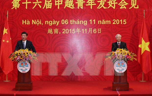 Nguyen Phu Trong et Xi Jinping rencontrent les jeunes des deux pays hinh anh 1