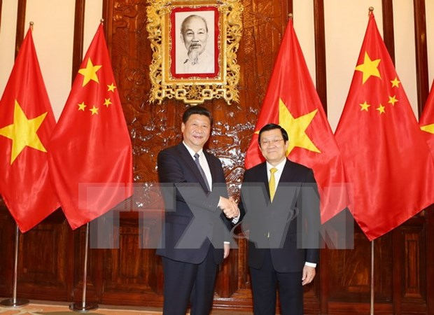 Vietnam-Chine : entretien entre Truong Tan Sang et Xi Jinping hinh anh 1