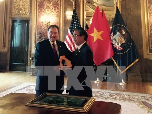 Cooperation multiforme entre le Vietnam et l'Etat americain de l'Utah hinh anh 1