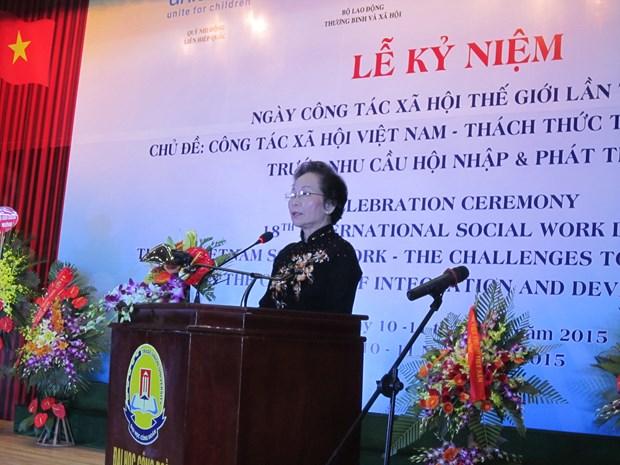 Celebration de la Journee mondiale du travail social a Hanoi hinh anh 1