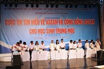 Un concours sur l'ASEAN pour les lyceens a Da Nang hinh anh 1