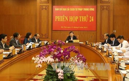 La Direction centrale de la reforme judiciaire tient sa 24e reunion hinh anh 1