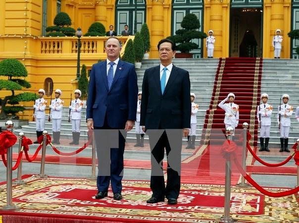 Entretien Nguyen Tan Dung et John Key hinh anh 1