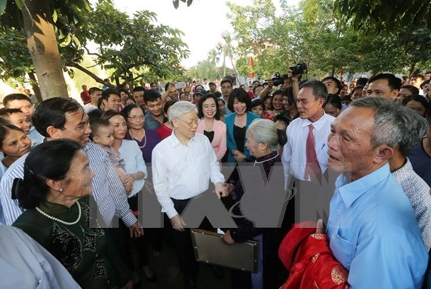 Nguyen Phu Trong a la Fete de grande union nationale a Hanoi hinh anh 1