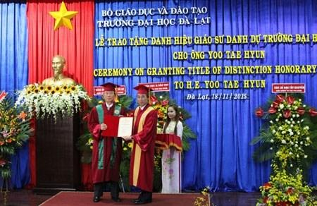 L'ancien ambassadeur sud-coreen au Vietnam a l'honneur hinh anh 1