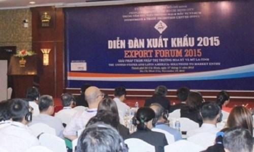 Forum sur les exportations de 2015 a Ho Chi Minh-Ville hinh anh 1