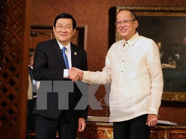 Entretien entre les presidents vietnamien et philippin hinh anh 1