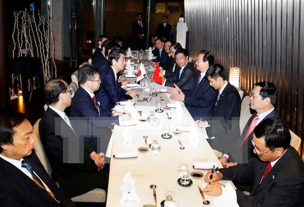 Vietnam-Japon : rencontre des PM en marge du 27e Sommet de l'ASEAN hinh anh 1
