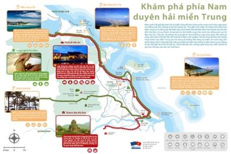 Lancement de la carte des produits touristiques du littoral du Centre du Vietnam hinh anh 1