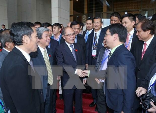 Le president de l'AN rencontre des journalistes de l'ASEAN hinh anh 1