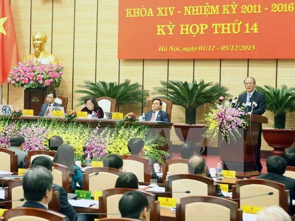 Ouverture de la 14e session du Conseil populaire de Hanoi hinh anh 1