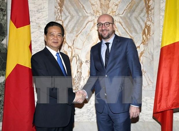 Entretien des Premiers ministres vietnamien et belge hinh anh 1