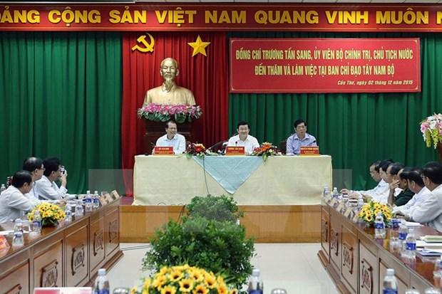 Truong Tan Sang travaille avec le Comite de pilotage du Nam Bo occidental hinh anh 1